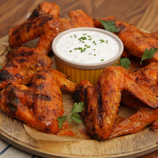 Grilled Spicy Chicken Wings with Homemade Ranch