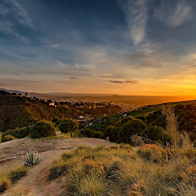 How to relax your soul. Sit down and enjoy the beauty of a sunset and nature. by Torsten Funke - Landscapes Sunsets & Sunrises ( traveling, relax, sunset, andalucia, alhambra, travel, landscape )