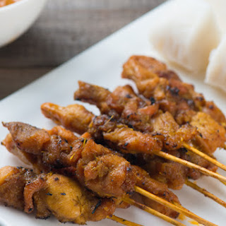 Simple Chicken Satay with Malaysian Peanut Sauce.
