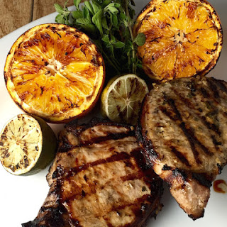 Grilled Pork Chops with Garlic Lime Mojo.