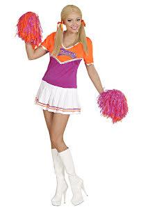 Cheerleaderklänning, Rosa/Orange