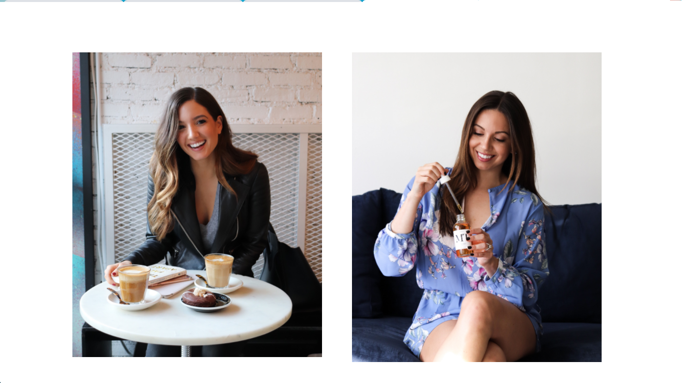 The pics of two lifestyle bloggers