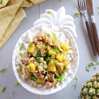 Pineapple Chicken Rice Bowls.