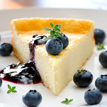 Photo: Goat Cheesecake with Blueberries