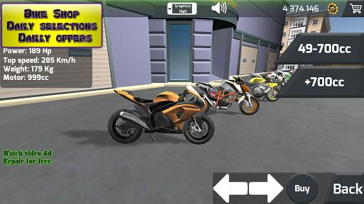 Motorbike real 3D drag racing Wheelie Challenge 3D  screenshots 3