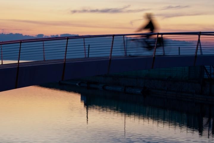 Bicicletta crepuscolare di tolmino