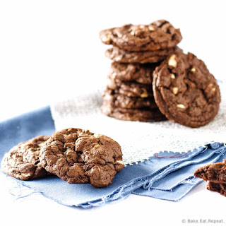 Triple Chocolate Macadamia Nut Cookies