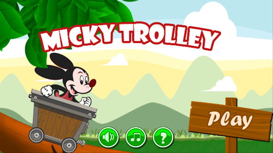 Adventure Mickey Trolley Games Mouse Run - náhled