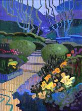 "Photo: ""Blake Garden Bolero"", acrylic on canvas 16"" x 12"", © Nancy Roberts"