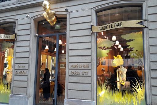 Marque d'héritage, Faure Le Page, boutique Paris
