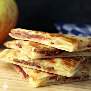 Smoked Gouda, Apple and Bacon Quesadillas.