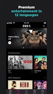 ZEE5 - Movies, TV Shows, LIVE TV & Originals Screenshot