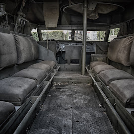 Militray Vehicle by Marco Bertamé - Transportation Other ( ww2, military, american, seats, us, vehicle, interior )