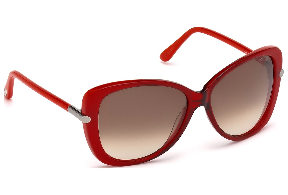5ce0a26423c Polarized Sunglasses Tom Ford Linda FT0324 C59 68F (red other   gradient  brown)