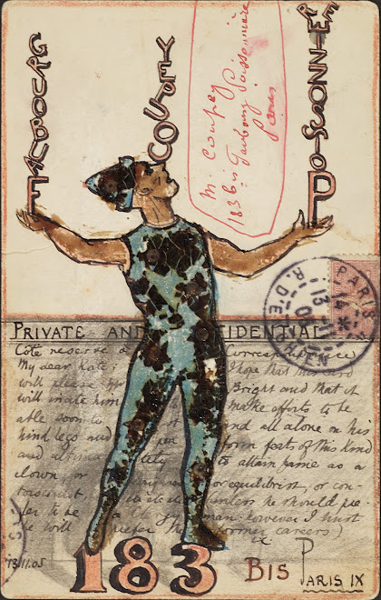<p> <strong>L&eacute;on Coupey<br /> To M Coupey (Paris)</strong><br /> Ink on card<br /> 5 &frac12;&quot; x 3 &frac12;&quot;<br /> 1905</p> <p> Collection Annik Coupey-Smith, Eastbourne, UK<br /> Set 7A.3 &nbsp;</p>