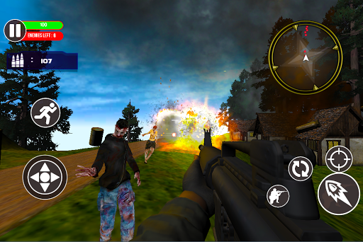 SURVIVAL BATTLE  ROYALE HEROES: Crazy Zombie Game cheat screenshots 1