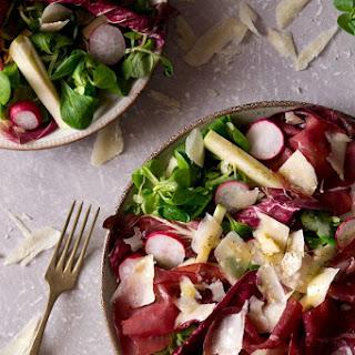 Bresaola Salad With Apple And Radicchio.