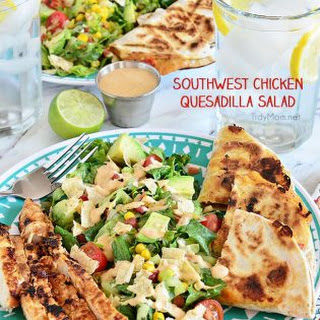 Southwest Chicken Quesadilla Salad