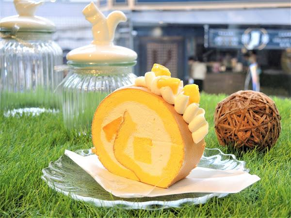 Pinede市府店|芒果季不只芒果冰可以吃,還有芒果乳酪生乳捲!愛吃芒果的朋友千萬不要錯過!