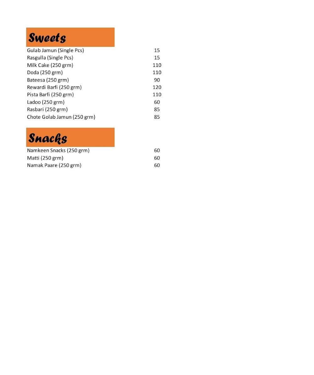 Subhash Sweets menu 8