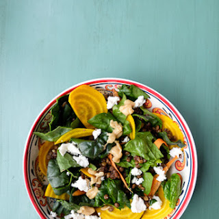 Spinach, Beet and Lentil Salad Recipe
