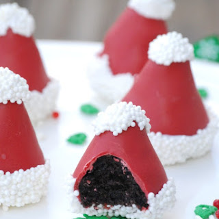 Santa Hat OREO Cookie Balls