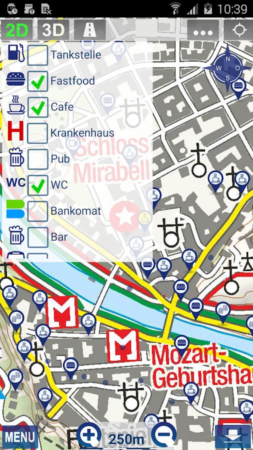 Outdoor and Hiking Navigation - screenshot