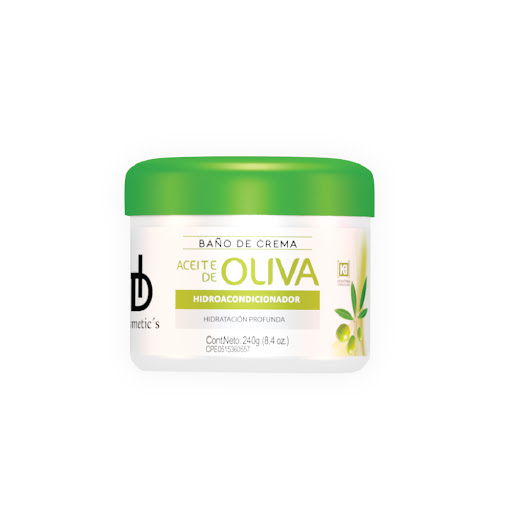 baño de crema hd cosmetics aceite de oliva 240ml