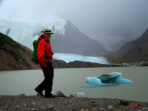 Photo: Shoreline at Lago Torre with Glaciar Grande in the distance