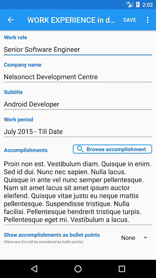 smart resume builder free cv maker templates android apps on - Smart Resume Builder