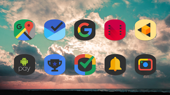 Black Cylinder - Icon Pack Screenshot