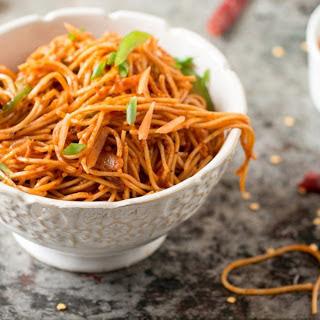 Spicy Szechuan Noodles [Vegan].
