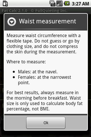 Body Fat Calculator screenshot 2