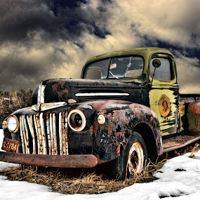 ~rusty~ by Kirk Kimble - Transportation Other ( clouds, pickup, truck, snow, ford )
