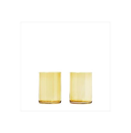 Set 2 Tumbler Glas, Dull Gold, MERA