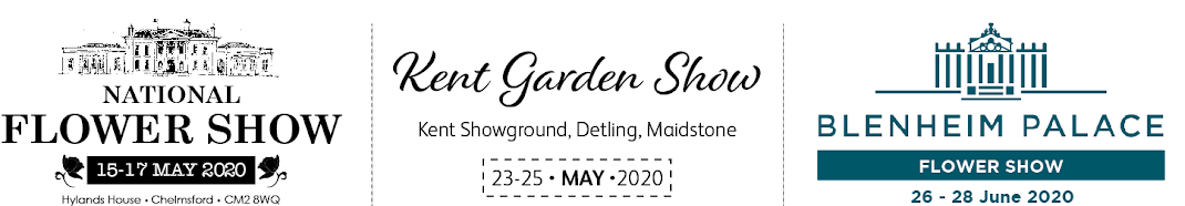 National Flower Show - May 2020 in words with a castle in the background