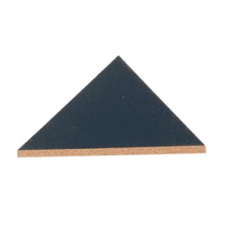 Grytunderlägg triangel, kork, orionblå