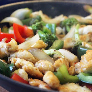 Crispy Chicken Ginger Stir Fry