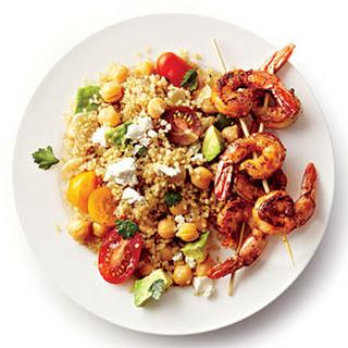 Spicy Grilled Shrimp with Quinoa Salad