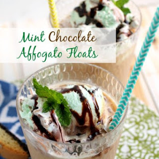 Mint Chocolate Affogato Floats