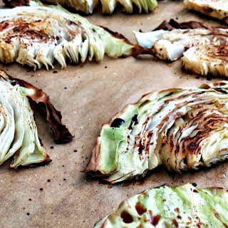 Buttery Balsamic Roasted Cabbage.