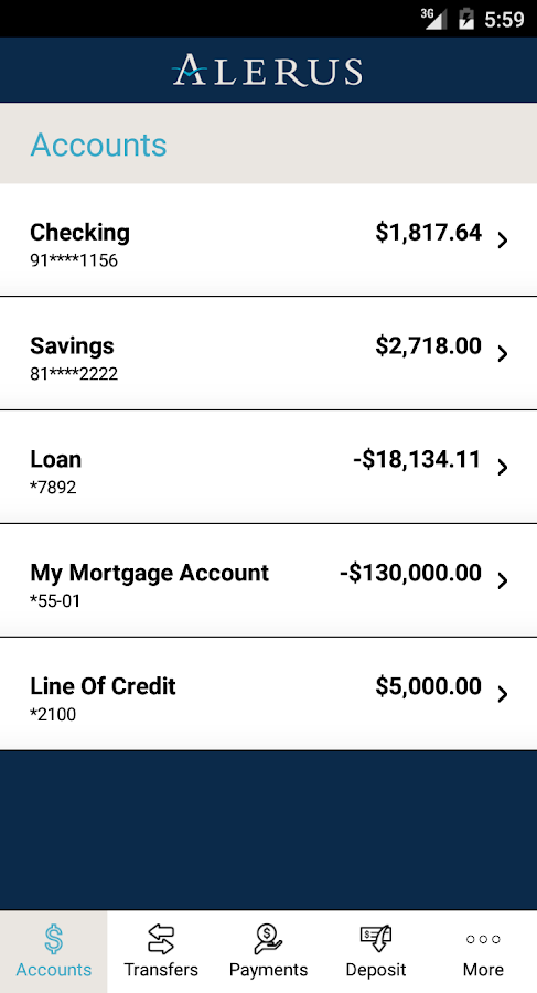 Alerus Mobile Banking- screenshot