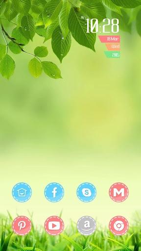绿色的叶子主题