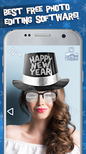New Year Photo Stickers Editor - náhled