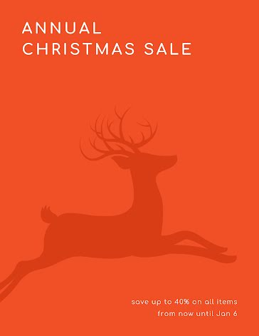 Annual Christmas Sale - Christmas Template