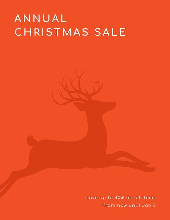 Annual Christmas Sale - Christmas Template