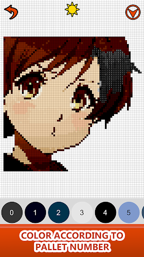 Anime Manga Color by Number - Pixel Art Coloring for PC