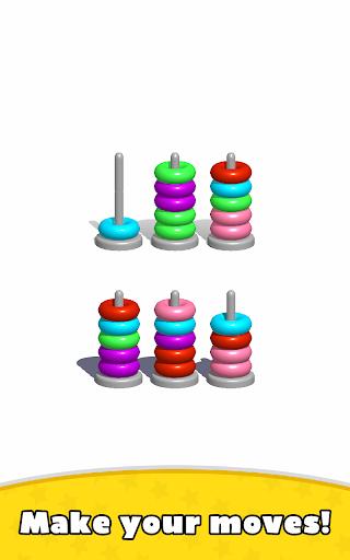 Sort Hoop Stack Color - 3D Color Sort Puzzle android2mod screenshots 12