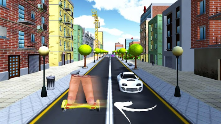 Simulator Hoverboard city run - screenshot