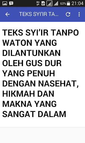 Free Download Mp3 Syi Ir Tanpo Waton Gusdur : download, tanpo, waton, gusdur, Download, Sholawat, Latest, Version, Android